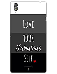 Sony Xperia T3 Cases & Covers - Love Your Fabulous Self Case by myPhoneMate - Designer Printed Hard Matte Case - Protects from Scratch and Bumps & Drops.