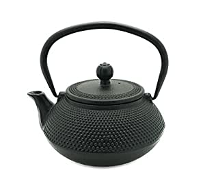 Japanese tetsubin hobnail dotted black cast iron teapot 20 ounce with infuser - Japanese teapot with infuser ...