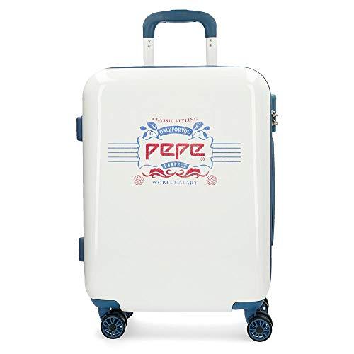 Maleta de cabina rígida 55cm Pepe Jeans Luggage Classic Blanca