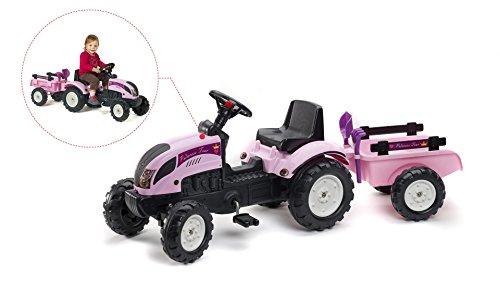 falk claas traktor Falk erster Traktor für Mädchen Trettraktor Princess pink mit Anhänger