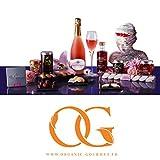 Coffret BIO gourmet Saint-Valentin - Panier gourmand BIO aux saveurs florales & Champagne Rosé millésimé
