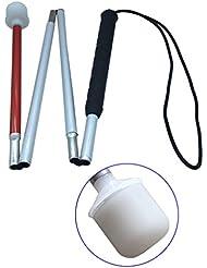 Aluminium Mobilité Folding Cane Pour Les Aveugles (Folds Bas 4 Sections) de la Canne Blanche pour Les Enfants