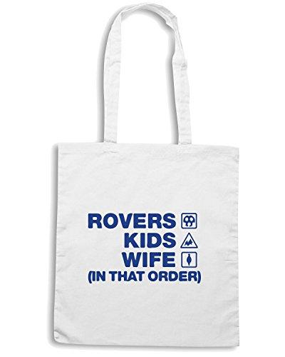 T-Shirtshock - Borsa Shopping WC1080 tranmere-rovers-kids-wife-order-tshirt design Bianco
