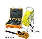 MabelStar mabelstar Hohe Qualität 200FT/60m Schubstange Kanalisation Inspektionskamera mit wasserdicht 512Hz Sonde Kamera und 512Hz Empfänger Locator