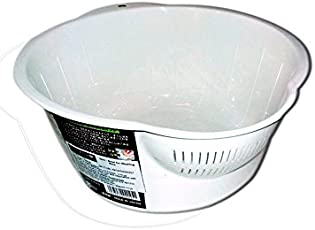 Nizona Synthetic Rice Washing Drainer Bowl, 26cm/2L(White)