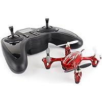Hubsan H107C X4 Drone Quadrielica 2.4GHz Camera Rosso con Strisce Argento