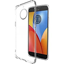 Amazon Brand - Solimo Moto E4 Plus Mobile Cover (Soft & Flexible Back Case), Transparent