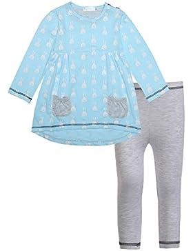 Chigant Baby-Mädchen Nachthemd Rundhalsausschnitt Langarmshirt und Leggings Set Zweiteiliger Schlafanzug Nitnightset...