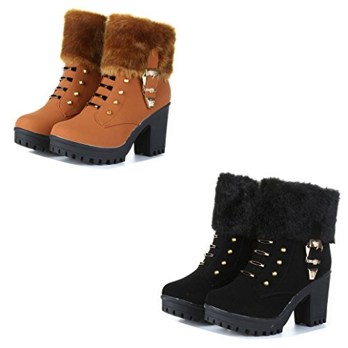 Con Boot Martin Allineate Gli Colorate Nero Tacco Stivali Delle Stivali tm Classiche Invernali Di Caldo Donne Quadrato Scarpe Peluche Per Stivali Hqw1qY