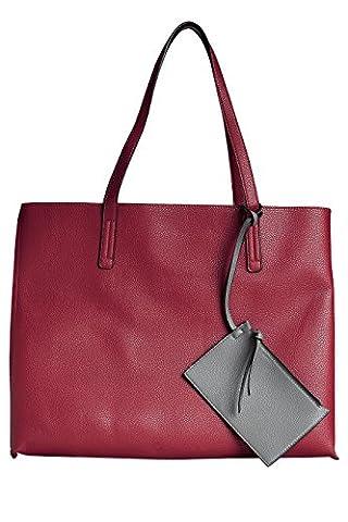 next Sac cabas réversible Coupe regular Femme Rouge/Gris Taille Unique