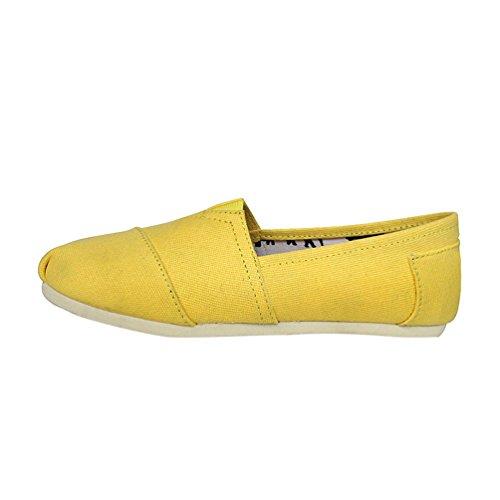 Dooxii Unisex Hombre Mujer Ocasionales Loafer Zapatos Moda Color Sólido Planos Alpargatas