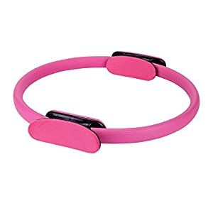 Alexsix Dual Grip Pilates Ring Magic Circle Muscles Body Exercise Yoga Fitness Equipment Pink