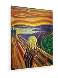 Edvard Munch - Der Schrei 2-1893 - 75x100 cm - Textil-Leinwandbild auf Keilrahmen - Wand-Bild - Kunst, Gemälde, Foto, Bild auf Leinwand - Alte Meister/Museum