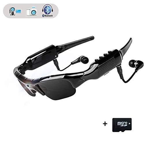 LHXHL Bluetooth Brille,Multifunktions Mobile Digitale Sonnenbrille Bluetooth Kopfhörer Händefrei Fahrengläser HD 1080p Kamera Mini DV Brillen Sportbrillen Radsport-Brillen mit 32 GB Speicherkarte