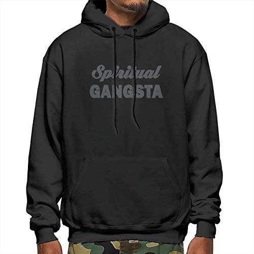 Spiritual-Gangsta-I\'m-Very-Sensual-and-Deep-But-Also-A-Gangster-Herren-Kapuzenpullover mit Print Warme, leichte Sportbekleidung mit Langen Ärmeln und Tasche