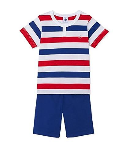 Petit Bateau Boy's Flash Pyjama Sets, Multicoloured (Ecume/Source/Ecume/Peps), 12 Years