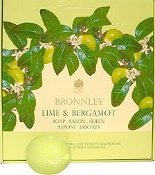 Bronnley Lime and Bergamont Soap Singles, 3.5 Oz Each (MADE WITH NATURAL LIME EXTRACT, SHEA BUTTER AND SWEET ALMOND OIL) by Bronnley