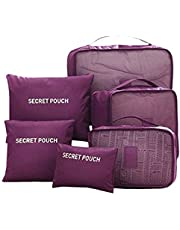 Styleys Set of 6 Packing Cubes Travel Organizer (Maroon)