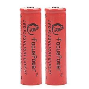 puissance accent 4.2v 6800mAh 18650 batterie au lithium-ion rechargeable (x2)