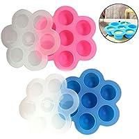 TianranRT Paquete de 2 moldes de silicona para huevo para accesorios Marmite Bandeja congeladora Contenedor reutilizable