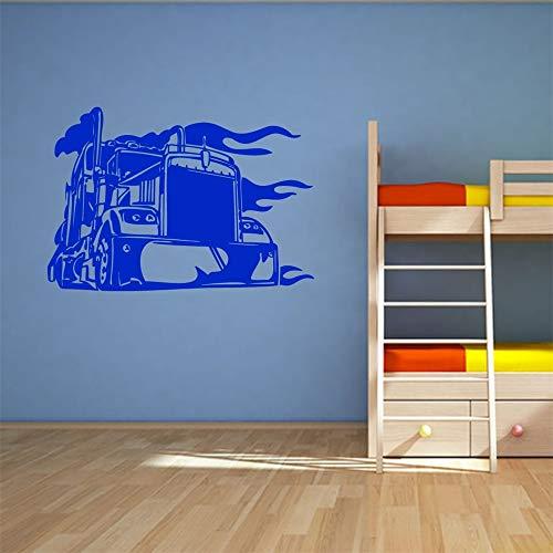 stickers muraux enfants jungle Big Truck pour salle de séjour chambre d'enfants