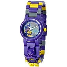Reloj infantil modificable con figurita del Batgirl de BATMAN: LA LEGO PELÍCULA; púrpura/amarillo; plástico; 28 mm de diámetro; Cuarzo analógico  chico chica; oficial