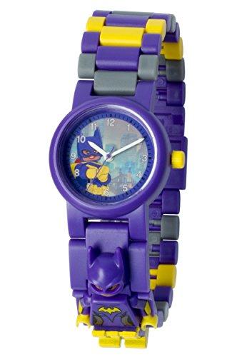 Montre figurine Batgirl de LEGO Batman le film pour enfant à construire | violet/jaune | plastique | diamètre du cadran 28mm | à quartz analogique | garçon/fille | produit officiel 5060286802113