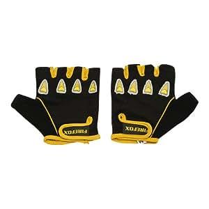 Firefox Bicycle Gloves, Medium (Black/Yellow)