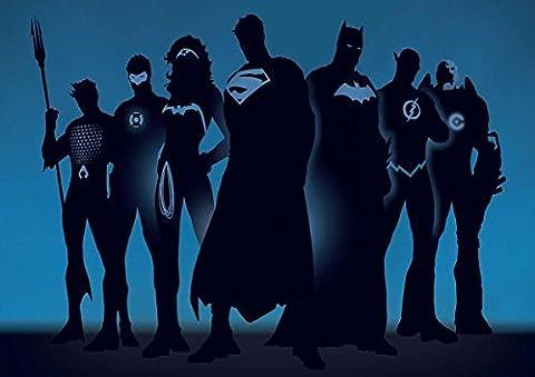 Poster POSTER COMICS JUSTICE LEAGUE SUPER HEROS Wall