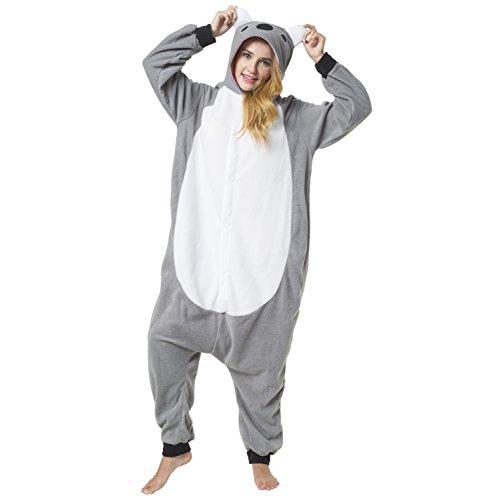 Katara 1744 - kigurumi pigiama onesie tuta costume animale per carnevale, feste, cosplay monopezzo, morbido e comodo, koala - altezza 155-165cm(m)