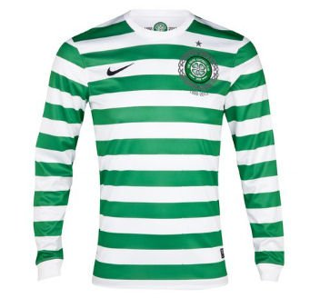 2012-13 Celtic Home Nike Long Sleeve Shirt (Kids) (Home Trikot Celtic)