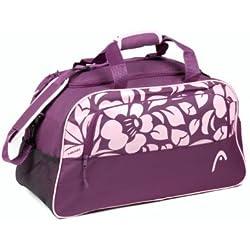 Head Orchid - Bolsa de deporte (tamaño mediano), diseño de flor, color morado