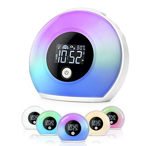 Nachtlicht Uhr Für Schlafzimmer - Baby-Taktgeber Mit Bluetooth-Lautsprechern Und Kindernacht Schlaf-Lampe Für Schlaftraining