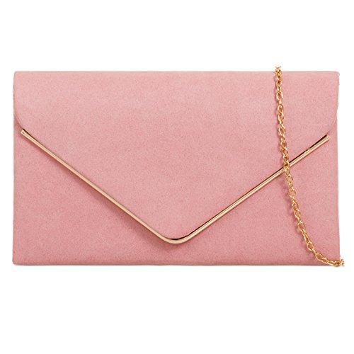 fi9®, Poschette giorno donna multicolore Grey Dusky Pink