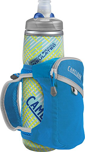 CamelBak Products LLC Quick Grip Chill Handheld Water Bottle Trinkrucksack, Atomic Blue/Silver, 21 oz -