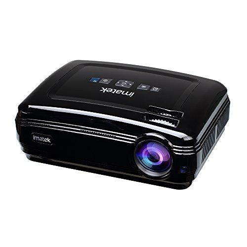 Beamer,Projektor,IMATEK Mini LED Videoprojektor 3200 Lumen unterstützt 960P Full HD, Kompatibel mit Fire TV Stick, PS4, Xbox, Chromecast, HDMI, VGA, SD, USB, Heimkino Beamer