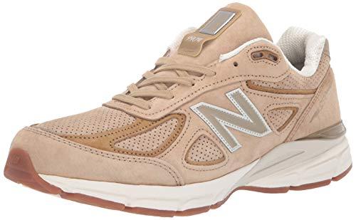 New Balance - Männer M990V4 Schuhe, 42.5 EUR - Width D, Hemp/Linseed -