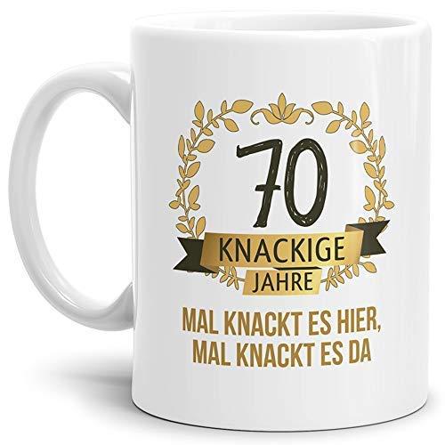 Tassendruck Geburtstags-Tasse Knackige 70
