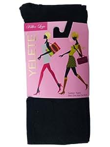 Cuissardes de Mode de Yelete - Collant de Mode Une Taille - Noir