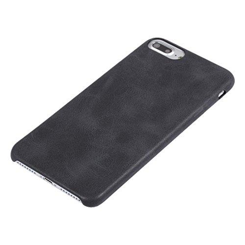 Hülle für iPhone 7 plus , Schutzhülle Für iPhone 7 Plus Crazy Pferd Textur Leder Oberfläche Soft TPU Schutzmaßnahmen zurück Fall ,hülle für iPhone 7 plus , case for iphone 7 plus ( Color : Red ) Black