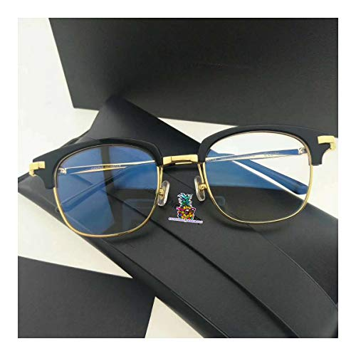 day spring online shop Double Nose Bridge GM Sunglasses ELL H with Origianl Package Sets for Woman and Man (Unisex)-Black Gold