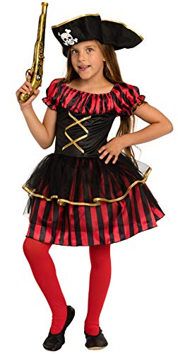 Magicoo Piratenlady - Piratenkostüm Kinder Mädchen - Kostüm -