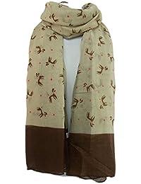 Bufanda de impresión animal GFM: caniche bufanda de impresión, PDL-03-HLKEK - Light Brown, large