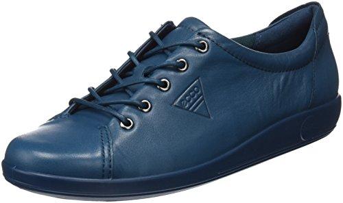 Ecco Damen Soft 2.0 Derby, Blau (Dark Petrol), 40 EU
