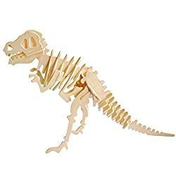 Creative Assemble Puzzle Toys Child Early Education Wooden 3 D Puzzle Dinosaur Tyrannosaurus