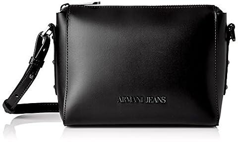 Armani Jeans Women's 9221767P757 Satchel black Schwarz (NERO 00020)