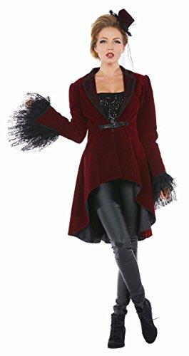Mottoland Damen Kostüm Burlesque Saloon Girl Mantel Karneval Fasching Gr.46
