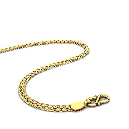 Candere By Kalyan Jewellers Contemporary Collection 22k Yellow Gold Kamal Chain Necklace for Men