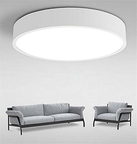 Wohnzimmerlampe Decke Lampe Wohnzimmer Weiß Deckenlampe Schlafzimmerlampe Led Modern Rund Badlampe Leuchten Zimmerlampe Für Schlafzimmer Bad Deckenleuchte Innenleuchte 230V Dimmen mit Fernbedienung (60CM Dimmbar 64 W)
