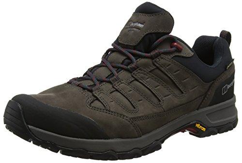 Berghaus Fellmaster Active Gore-Tex Walking Shoes, Chaussures de Randonnée Basses Homme, Brown/Burnt Orange, 40.5 EU